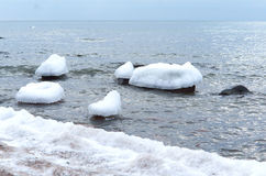 Ice, sea, snow, cold, winter, landscape, travel, baltic, tourism Stock Images