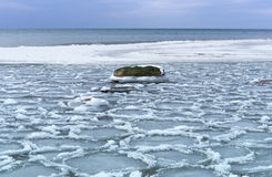 Ice, sea, snow, cold, winter, landscape, travel, baltic, tourism Royalty Free Stock Photos
