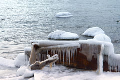 Ice, sea, snow, cold, winter, landscape, travel, baltic, tourism Royalty Free Stock Photo