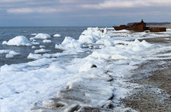 Ice, sea, snow, cold, winter, landscape, travel, baltic, tourism Stock Image