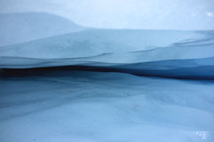Ice shape in Franz Josef Ice Glacier, New Zealand Royalty Free Stock Images