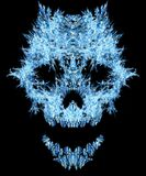 Ice Shard Skull Abstract. Ice shard shape skull abstract, vertical, , over black Royalty Free Stock Photography
