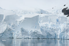 Ice sheet on the Antarctic coast. Royalty Free Stock Images
