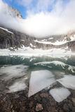 Ice sheet cover Iceberg Lake in Glacier National P Royalty Free Stock Image