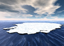 Ice Sheet Floating in Ocean. Waters Stock Photography