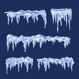 Ice sheets with icicles. Blue Ice sheets with icicles Vector Illustration Stock Photos