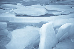 Ice Sheets on Lake Stock Photos