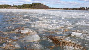 Ice sheets on water stock footage