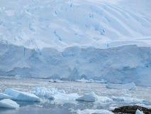 Ice shelf in Antarctica. Ice shelf of Antarctica with floating icebergs Stock Photography