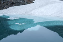 Ice shelf in glacial pool Stock Photos