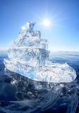 Ice ship on winter Baical Royalty Free Stock Photos