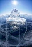 Ice ship on winter Baical Royalty Free Stock Photos