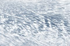 Ice with show on frozen river in winter royalty free stock photos