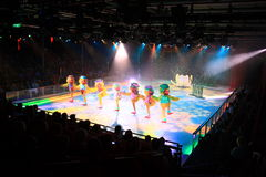 Ice show onboard the Oasis of the seas Royalty Free Stock Images