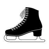 Ice skate. Illustration of Ice skate on white background Stock Photography
