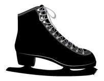 Ice skate. Black silhouette of an ice skate on white background Royalty Free Stock Photography