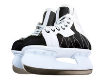 Ice skate for children on white background. Sport and leisure royalty free stock photo