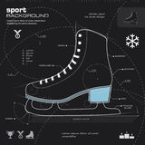 Ice skate design vector background Stock Photography