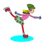 Ice skate girl Stock Photo