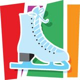 Ice Skate Graphic Stock Images