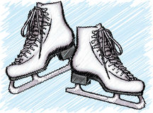 Ice Skate illustration Royalty Free Stock Photo