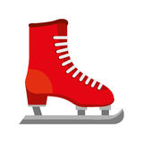 Ice skate isolated icon. Vector illustration design Royalty Free Stock Photos