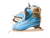 Ice skate isolated on white Stock Photography