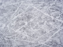 Ice skate marks. On outdoor rink Stock Photography