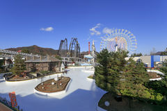 Ice skate rink park and Big Ferry wheel at Fuji Q highland, Japa Stock Photography