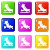Ice skate set 9 Stock Images
