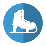 Ice skate sport leisure shadow Stock Images
