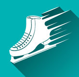 Ice Skate Symbol, Long Shadow, Vector Illustration Royalty Free Stock Photography