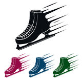 Ice Skate Symbol, Vector Illustration Royalty Free Stock Image