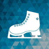 Ice skate winter sport blue abstract background. Vector illustration eps 10 stock illustration