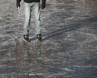 Ice skater on ice Royalty Free Stock Images