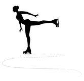 Ice skater silhouette Royalty Free Stock Image