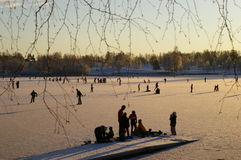 Ice-skaters stockbild