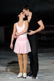 Ice skaters Berton & Hotarek -Italian Championship Royalty Free Stock Image