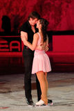 Ice skaters Berton & Hotarek -Italian Championship Royalty Free Stock Photo