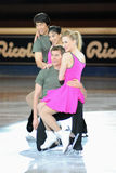 Ice skaters celebrities at 2011 Golden Skate Award Stock Photo