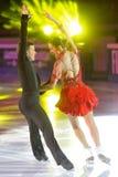 Ice skaters Cherlene Guignard & Marco Fabbri Stock Images