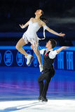 Ice skaters Cherlene Guignard & Marco Fabbri Royalty Free Stock Images