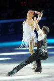 Ice skaters Cherlene Guignard & Marco Fabbri Royalty Free Stock Photo