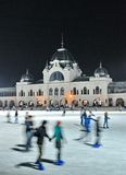 Ice skaters in City Park Ice Rink Stock Image