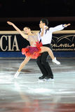 Ice skaters dancing at 2011 Golden Skate Award Stock Images