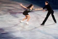 Ice skaters Elena Ilinykh & Nikita Katsapalovi Royalty Free Stock Photo