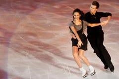 Ice skaters Elena Ilinykh & Nikita Katsapalovi Royalty Free Stock Images