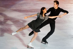 Ice skaters Elena Ilinykh & Nikita Katsapalovi Royalty Free Stock Photography