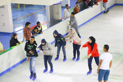 Ice skaters Stock Image