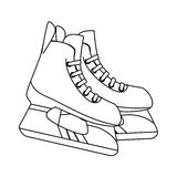 Ice skaters isolated icon. Illustration design Royalty Free Stock Photo
